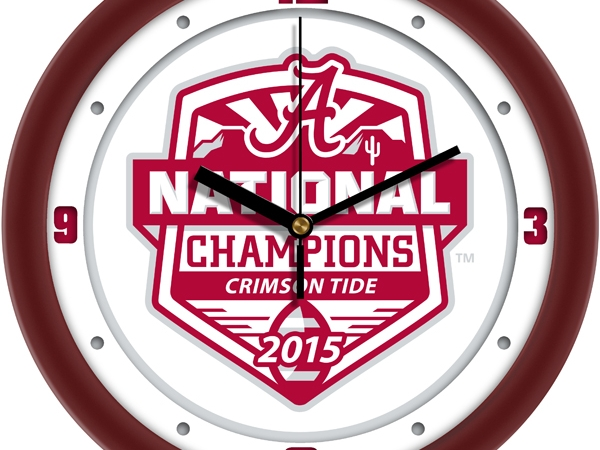 Suntime 2015 National Champtionship White Dial Wall Clock by Suntime